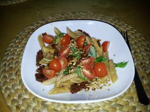 Makaron i suszone pomidory